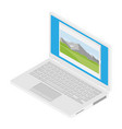 laptop computer isometric vector image vector image