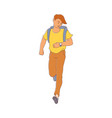 late young man girl hurrying up vector image vector image