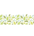 Leaves silhouettes horizontal seamless pattern vector image vector image