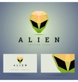 Logo and business card template with polygonal vector image vector image
