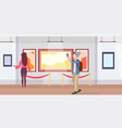 man art gallery visitor taking selfie photo on vector image vector image