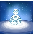 meditating person in space vector image vector image