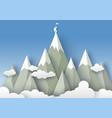 mountaineering in paper art vector image vector image