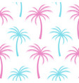multicolored palm tree background seamless vector image
