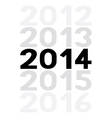 New year 2014 is coming soon5 vector image vector image