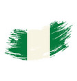 nigerian flag grunge brush background vector image vector image