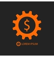 Orange business logo vector image vector image