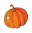 orange pumpkin autumn halloween vector image vector image