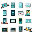 Phablet Icons Set vector image vector image