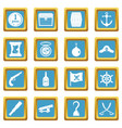 pirate icons azure vector image vector image