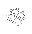puzzel of line icons the game skill vector image vector image