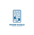 puzzle phone logo vector image vector image