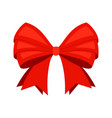 red ribbon bowknot vector image
