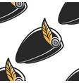 scottish hat with feather national costume element vector image vector image