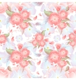 Seamless floral background Pink flowers on vector image vector image