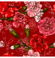 Seamless Floral Background with Carnations vector image vector image