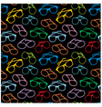 seamless sun glasses accessories pattern vector image vector image