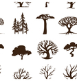 seamless trees vector image vector image