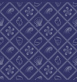 seashell nautical pattern in navy blue and white vector image vector image