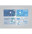 Set of eight visit cards vector image vector image