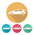 set of four flat style cars vector image