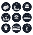 Set of Round Cargo Icons vector image vector image