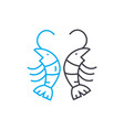 shrimps linear icon concept shrimps line vector image