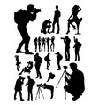 silhouette photographer vector image