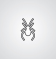 spider outline symbol dark on white background vector image