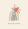spring summer greeting cards invitations hand vector image vector image
