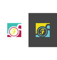 square letter f company logo vector image vector image