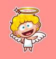 sticker emoji emoticon emotion hi hello waving vector image vector image