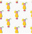 summer cocktail seamless pattern papercut vector image