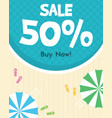 summer holiday sale poster design vector image vector image