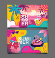 summer layout template design holiday vacation vector image vector image
