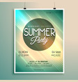 summer music party flyer template with event vector image vector image