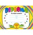 template of child diploma or certificate vector image