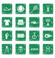 tennis icons set grunge vector image