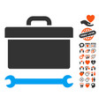 toolbox icon with dating bonus vector image vector image