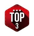 Top 3 - Five hexagon patch vector image