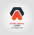 upside arrow business logo template vector image vector image