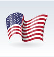 usa wavy flags united states patriotic national vector image vector image