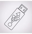usb flash drive icon vector image vector image