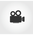 video camera icon flat design vector image