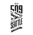 vintage sport vehicle logo vector image