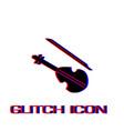 violin icon flat vector image vector image