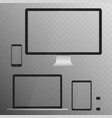 electronic devices screens isolated on white vector image