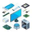 isometric of computer hardware vector image