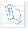 sketch book on a notebook sheet vector image