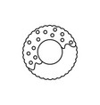 donut line icon sign on vector image